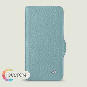 Customizable iPhone 12 Wallet leather case with magnetic closure