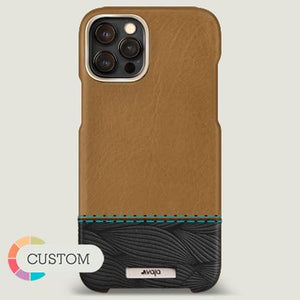 Customizable Grip Duo iPhone 12 Pro Max Leather Case - Vaja