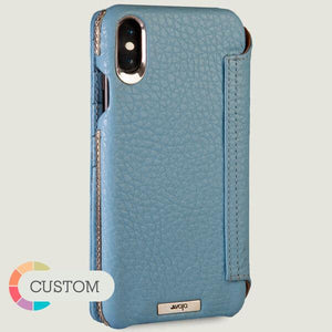 Custom Wallet Silver iPhone Xs Max Leather Case + Ships in 5 weeks .! - Vajacases