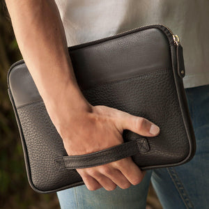 "PREORDER - Zippered Leather Pouch iPad Pro 12.9"" (2018) - Ship in 2 weeks!"