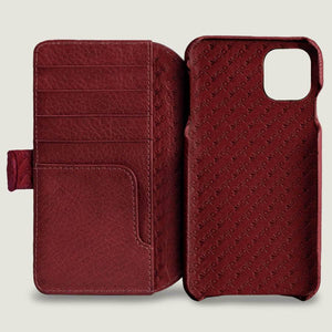 iPhone XI Max Wallet leather case with magnetic closure - Vaja