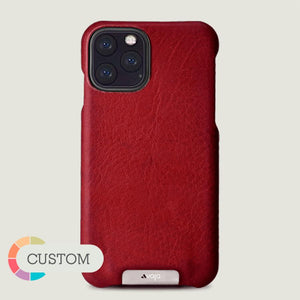Custom Grip iPhone XI Plus leather case - Vaja