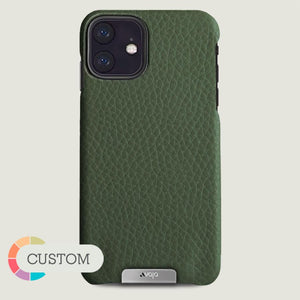 Custom Grip iPhone XI R Leather Case - Vaja