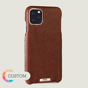 Custom Silver Grip iPhone 11 Pro leather case - Vaja