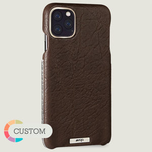 Custom iPhone 11 Pro Max Silver Grip Leather Case - Vaja