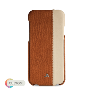 Customizable Top LP - Two-tone iPhone 6/6s Leather Case - Vajacases