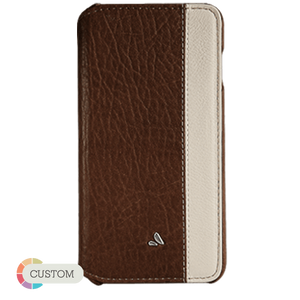 Customizable Agenda LP - Two-tone iPhone 6 Plus/6s Plus Leather Case - Vajacases