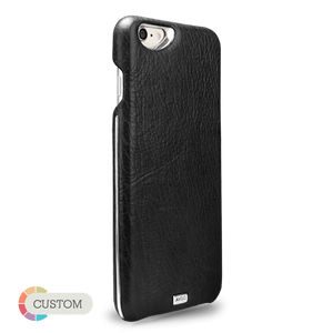 Customizable Grip Silver Argento - Unique iPhone 6/6s Leather Case - Vajacases