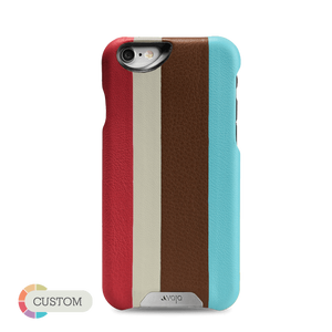 Customizable Grip Stripes - Multicolored iPhone 6/6s Leather Cases - Vajacases