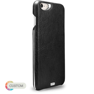 Customizable Grip Silver Argento - Unique iPhone 6 Plus/6s Plus leather case - Vajacases