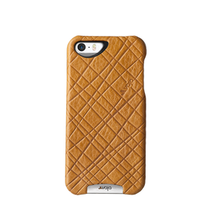 iPhone SE - Embossed Leather Grip Case - Vajacases
