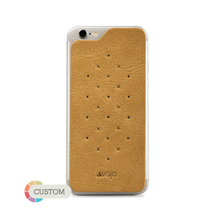 Customizable Leather Back - Premium Leather Back for iPhone 6/6s - Vajacases