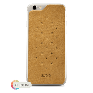 Customizable Leather Back - Premium Leather Back for iPhone 6 Plus/6s Plus - Vajacases