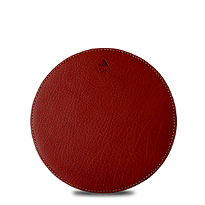 Leather Round Mouse Pad - Vajacases