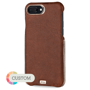Grip Silver - Luxury iPhone 8 Plus leather case - Vajacases