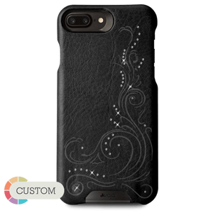 Customizable Grip Crystal - iPhone 8 Plus  Luxury leather case with Swarovski crystals - Vajacases