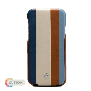 Customizable Top Stripes - Multicolored iPhone 6/6s Leather Case - Vajacases