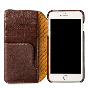 Wallet Agenda iPhone 8 Plus Leather Case - Vajacases
