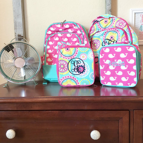 Gentry CA Monogrammed Backpacks