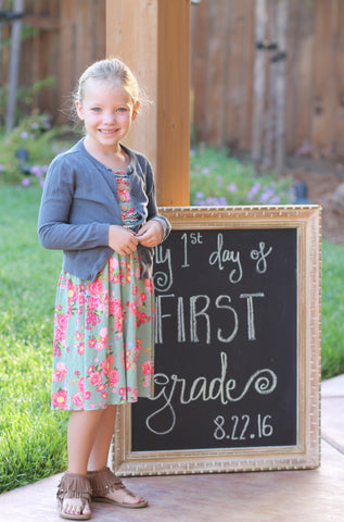 Gentry CA 1st Day of School