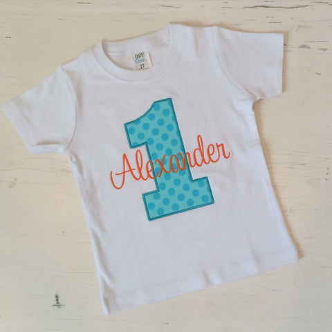 Boys Personalized Birthday Shirt