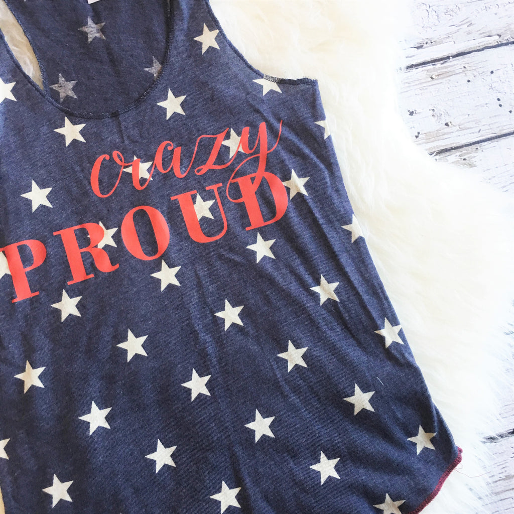 Crazy Proud Patriotic 4th of July Tank