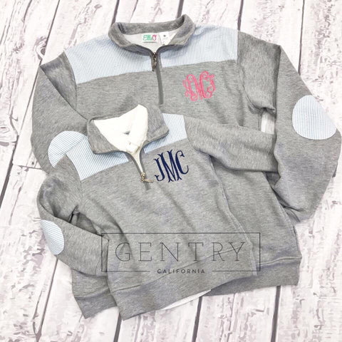 Youth Bailey & Beau French Terry Monogrammed Pullover