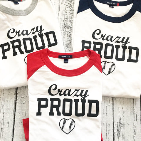 Crazy Proud Baseball Mom Shirt