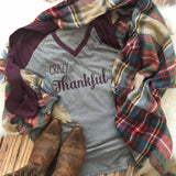 Crazy Thankful Thanksgiving Women's Shirt.
