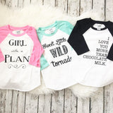 Girl With A Plan Raglan Shirt