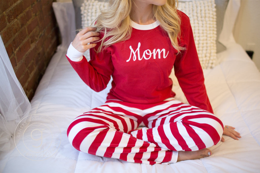 f7e7bc0f4c Christmas Pajamas - Adult With Monogram or Name. – Gentry California