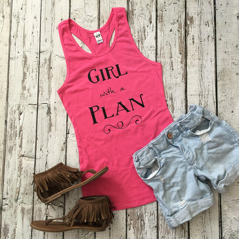 Girl with a Plan Graphic Tank