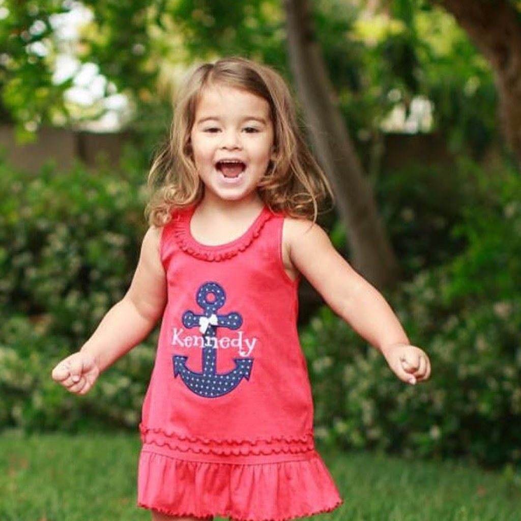 Girls' Personalized Anchor Summer Dress