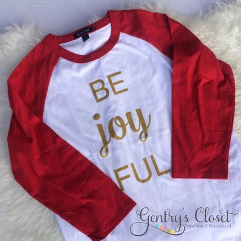 Be Joy FUL Unisex Holiday Raglan