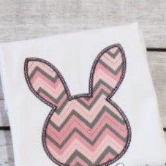 Chevron Easter bunny shirt.