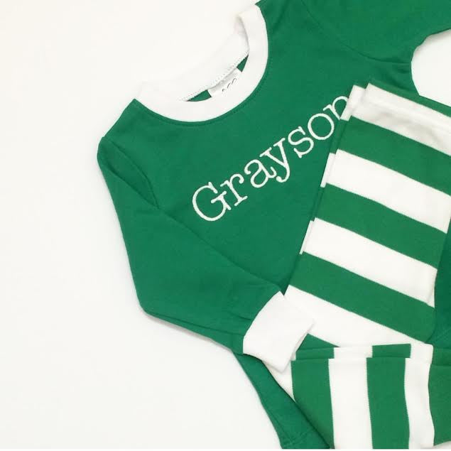 Monogrammed St. Patricks Day Pajamas