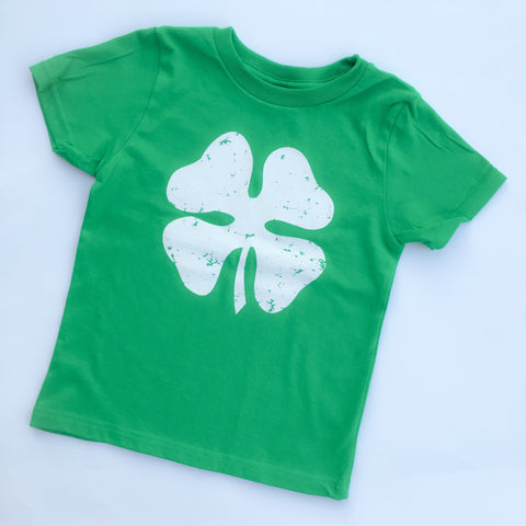 Lucky Charm Distressed Shamrock Shirt for Saint Patrick's Day.