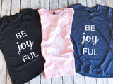 Be Joy FUL V-Neck Graphic Women's Tee