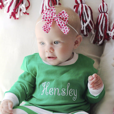 Christmas Pajamas - Kid's with Name or Monogram.