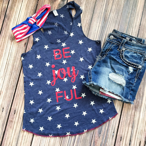 Be Joy FUL Patriotic 4th of July Tank