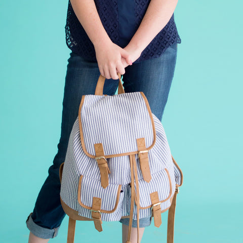 Monogram Campus Backpack - Seersucker