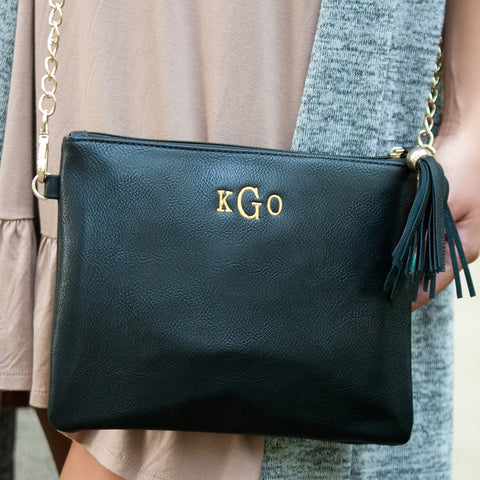 Black Monogrammed Kendall Purse