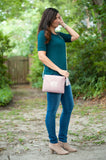 Blush Monogrammed Kendall Purse