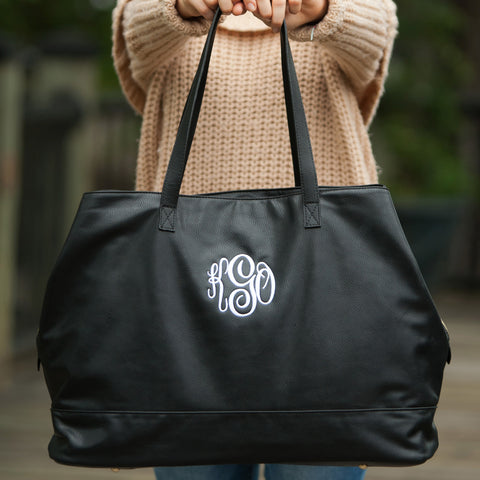 Black Monogrammed Travel Bag