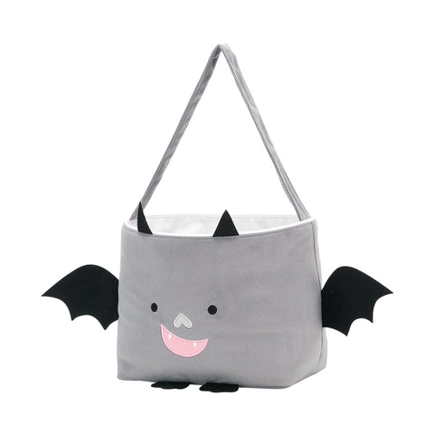 Halloween Bat Plush Bucket with Name