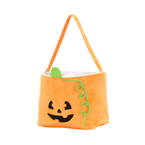 Halloween Pumpkin Plush Bucket with Name