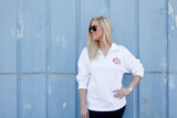 Women's Monogrammed Quarter Zip Sweatshirt