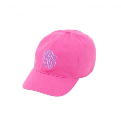 Monogrammed Baseball Hat - Kids