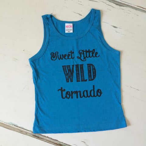 Sweet Little Wild Tornado Tank - Electric Blue