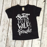 Sweet Little Wild Tornado Shirt - Hot pink, Black, Charcoal or Turquoise